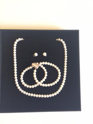Pearl Necklace silver-colored-oatmeal