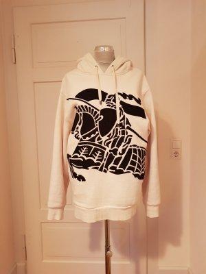 Burberry Hooded Sweatshirt black-natural white cotton