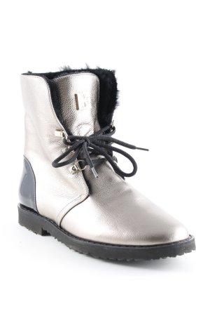 Högl Ankle Boots goldfarben-schwarz extravaganter Stil
