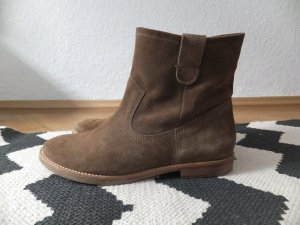 Högl Boots 38 Echtleder Biker Ankle Cognac-Braun Suede Jenny