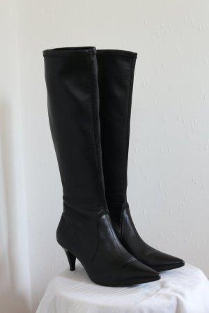 Högl Boots spitze Stiefeletten Soft Leather Vintage Stil Gr. 38 schwarz