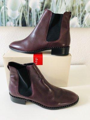 Högl Chelsea Boot brun rouge-bordeau cuir