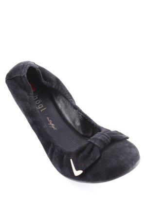 Högl faltbare Ballerinas schwarz Elastikeinsätze