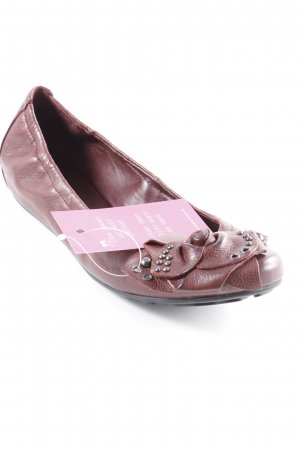 Högl faltbare Ballerinas silberfarben-karminrot Romantik-Look