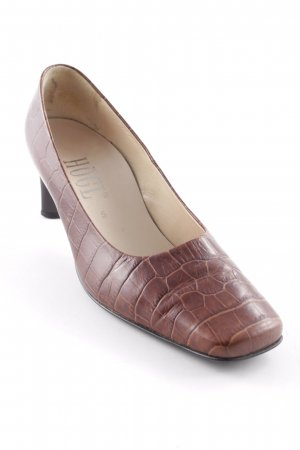 Högl Hochfront-Pumps cognac Tortoisemuster Business-Look