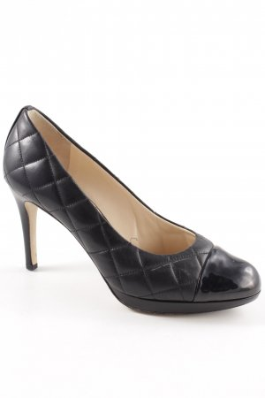 Högl High-Front Pumps black quilting pattern casual look