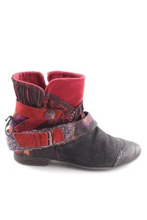 Högl Korte laarzen zwart-rood casual uitstraling
