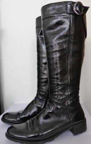 Högl Lackleder Stiefel Gr. 38,5 schwarz