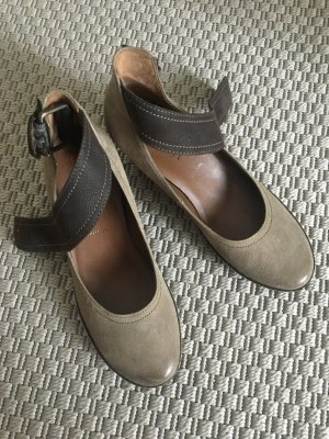Högl Mary Janes grey brown-black brown leather