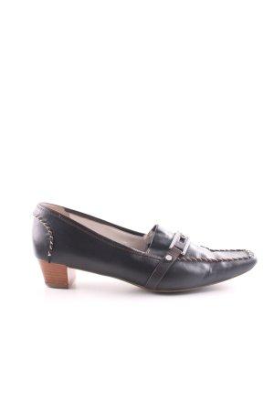 Högl Mocasines negro-marrón look casual