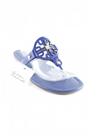 Högl Outdoor Sandals gold-colored-dark blue beach look
