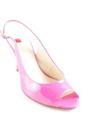 Högl Patucos con punta abierta rosa