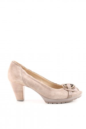 Högl Peeptoe Pumps creme Casual-Look