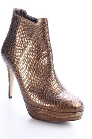 Högl Reißverschluss-Stiefeletten bronzefarben-goldfarben Animalmuster