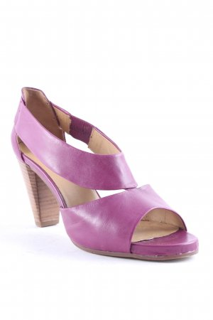 Högl Strapped High-Heeled Sandals lilac-brown elegant