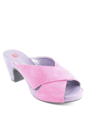 Högl Sabots blue violet-magenta simple style