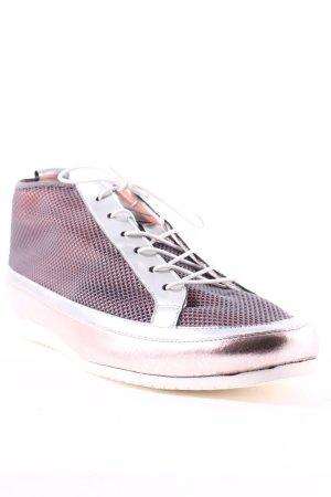 Högl Schnürschuhe grau-rosa Metallic-Optik