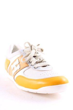 Högl Sneakers met veters zilver-goud Oranje casual uitstraling