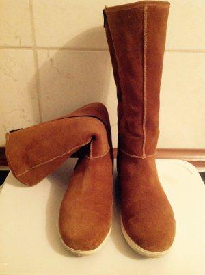 Högl shoe fashion GmbH Damen Stiefel Braun Gr. 38,5 Gore-Tex Lammfell