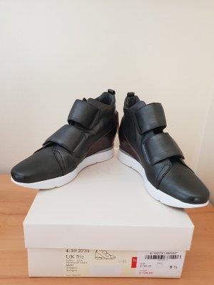 Högl Sneaker Butterfly mit Keilabsatz Dunkelgrau Gr 38,5 Neu