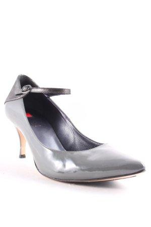 Högl Spitz-Pumps grau-silberfarben Elegant