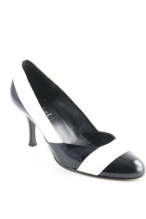 Högl Spitz-Pumps schwarz-weiß Elegant
