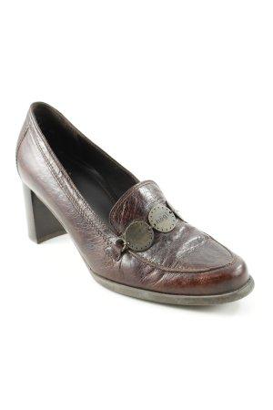 Högl Loafer marrone scuro-bronzo elegante