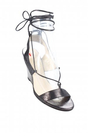 Högl Wedge Sandals dark grey glittery