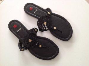 Högl High-Heeled Toe-Post Sandals black