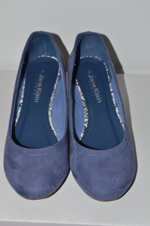 Jane Klain Peep Toe Ballerinas cornflower blue