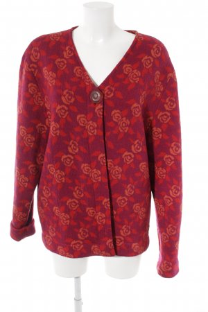 Hofius Giacca di lana motivo floreale stile casual