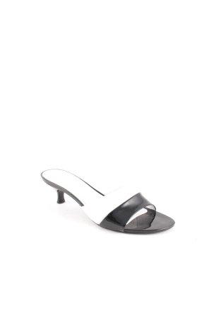 Hogan Sandalo con tacco nero-bianco color block effetto bagnato