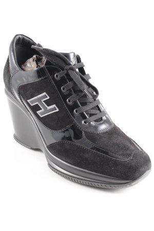 Hogan Absatz Sneaker schwarz-silberfarben extravaganter Stil