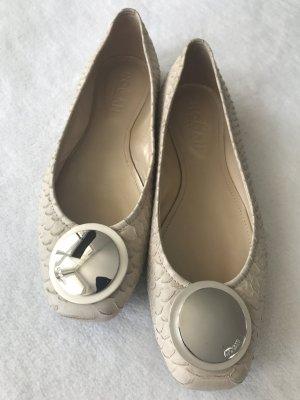 HOGAN Ballerina Schuhe - ecru / beige - 37 | nur einmal getragen - leider zu groß