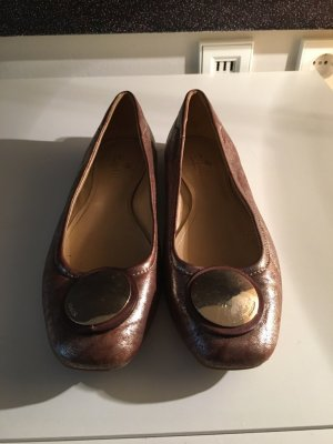Hogan Slingback Ballerinas bronze-colored leather