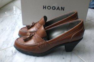 HOGAN Braune Loafer Leder Pumps *** neuwertig