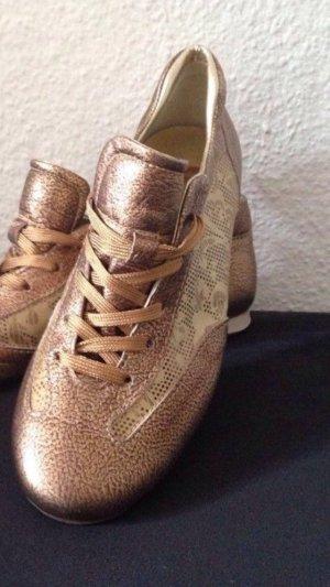 hogan Designer Sneaker Gr. 39, Metallic-Gold, Beige,wie NEU!