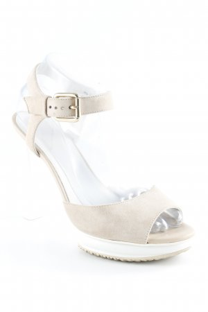 Hogan High Heel Sandal white-oatmeal elegant
