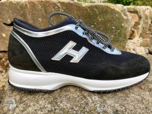 Hogan interactive Sneaker in schwarz / Silber aus Neopren / Mesh