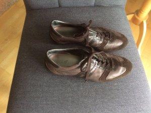 HOGAN Leder Sneaker braun Größe 37