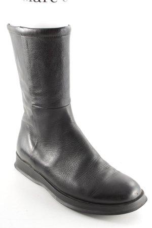 Hogan Reißverschluss-Stiefeletten schwarz minimalistischer Stil
