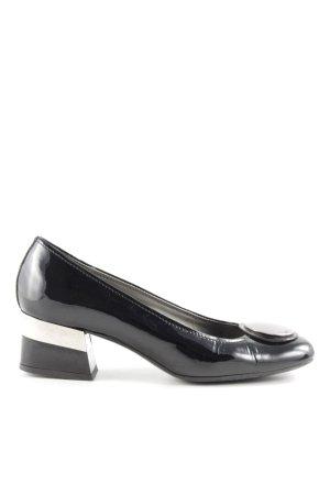 Hogan Schlüpfschuhe schwarz-silberfarben Elegant