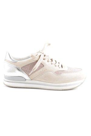 Hogan Schnürsneaker beige-rosa Street-Fashion-Look