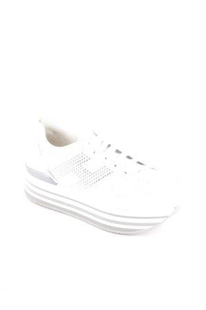 Hogan Schnürsneaker weiß-grau extravaganter Stil