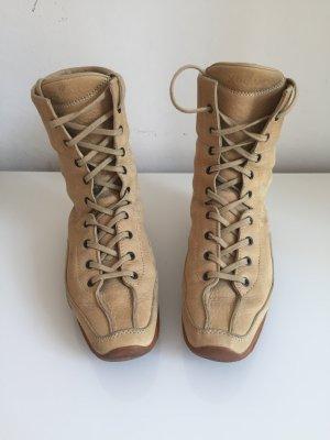 Hogan Lace-up Boots cream-beige