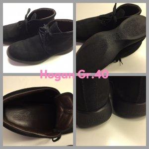 Hogan Lace Shoes black suede