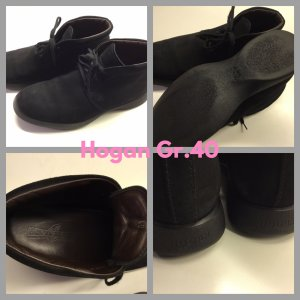 Hogan Chaussures à lacets noir daim