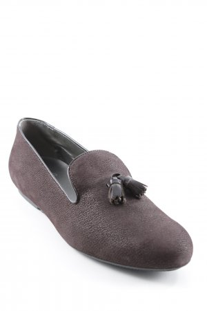 Hogan Slipper dunkelbraun Business-Look