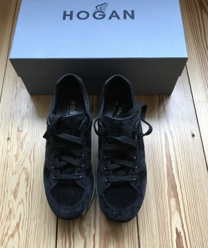 Hogan Sneakers met veters zwart-wit Leer