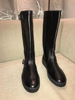 Hogan Stiefel Lederstiefel schwarz 41 ungetragen